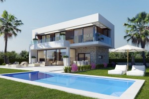 Buy villa with spectacular view of sea and Benidorm. Finestrat. Benidorm.